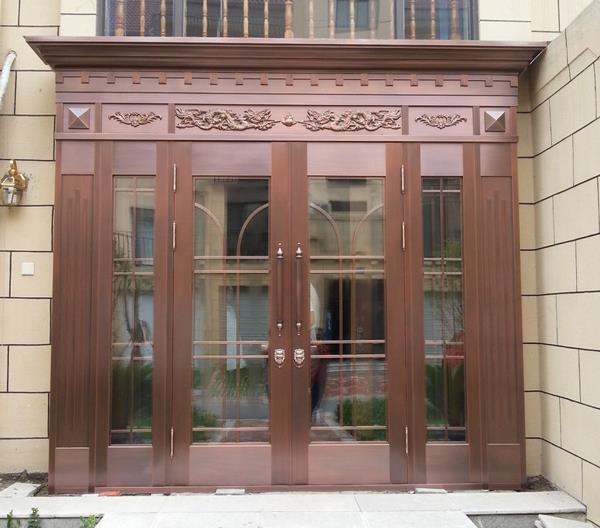 入户铜门安装后,对其外观检查要注意什么?